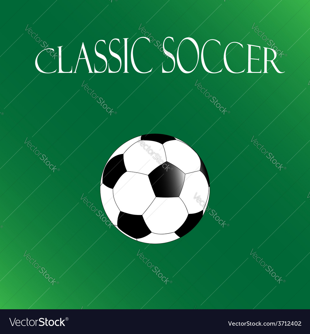 Classic soccer background football poster vector | Price: 1 Credit (USD $1)