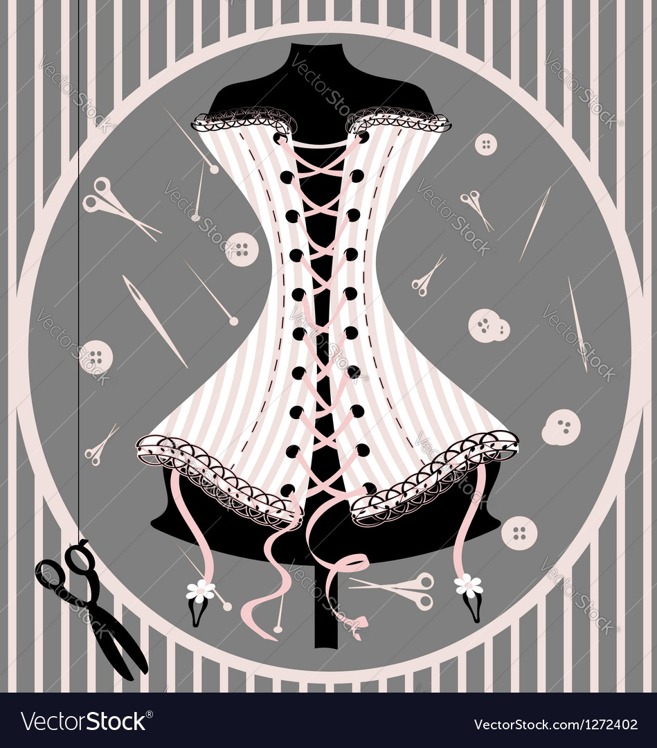 Craft dummy and corset vector | Price: 1 Credit (USD $1)