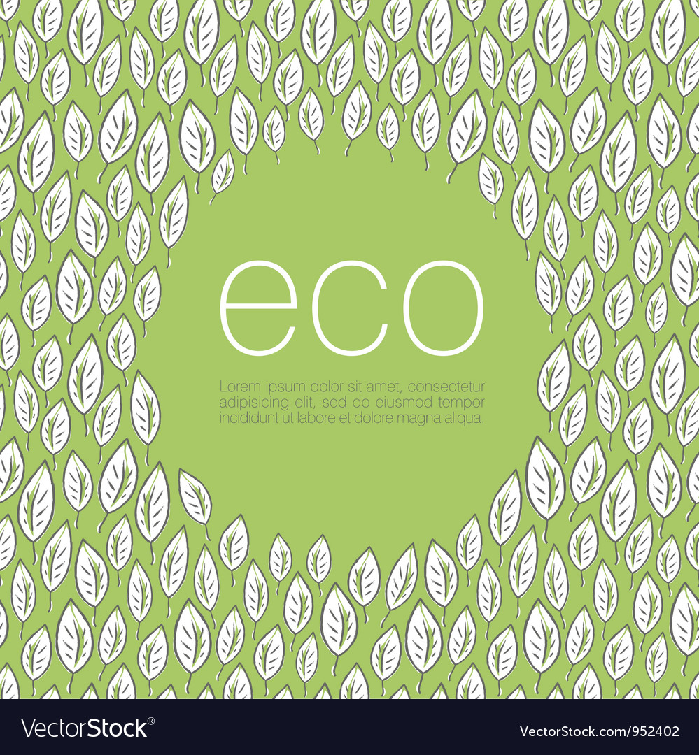 Ecology poster background vector | Price: 1 Credit (USD $1)