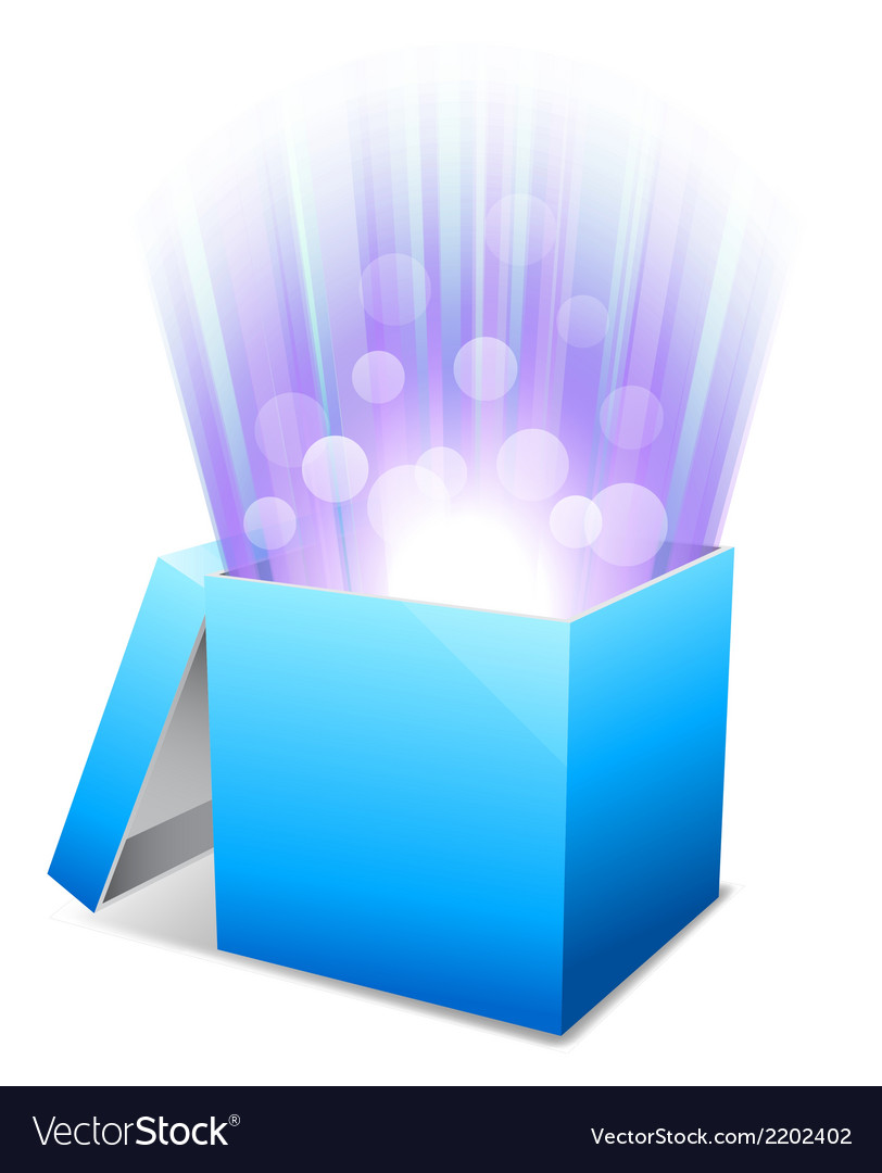 Glowing box vector | Price: 1 Credit (USD $1)