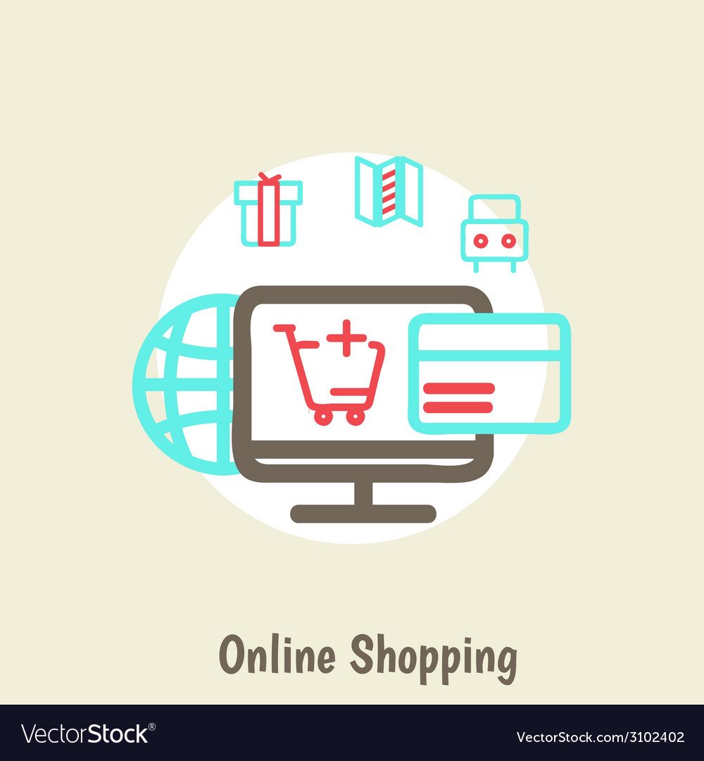 Infographics background e-commerce vector | Price: 1 Credit (USD $1)