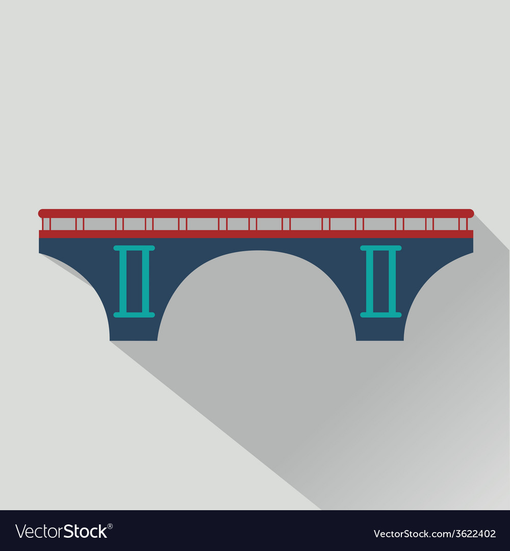 Isolated bridges big icons set vector | Price: 1 Credit (USD $1)