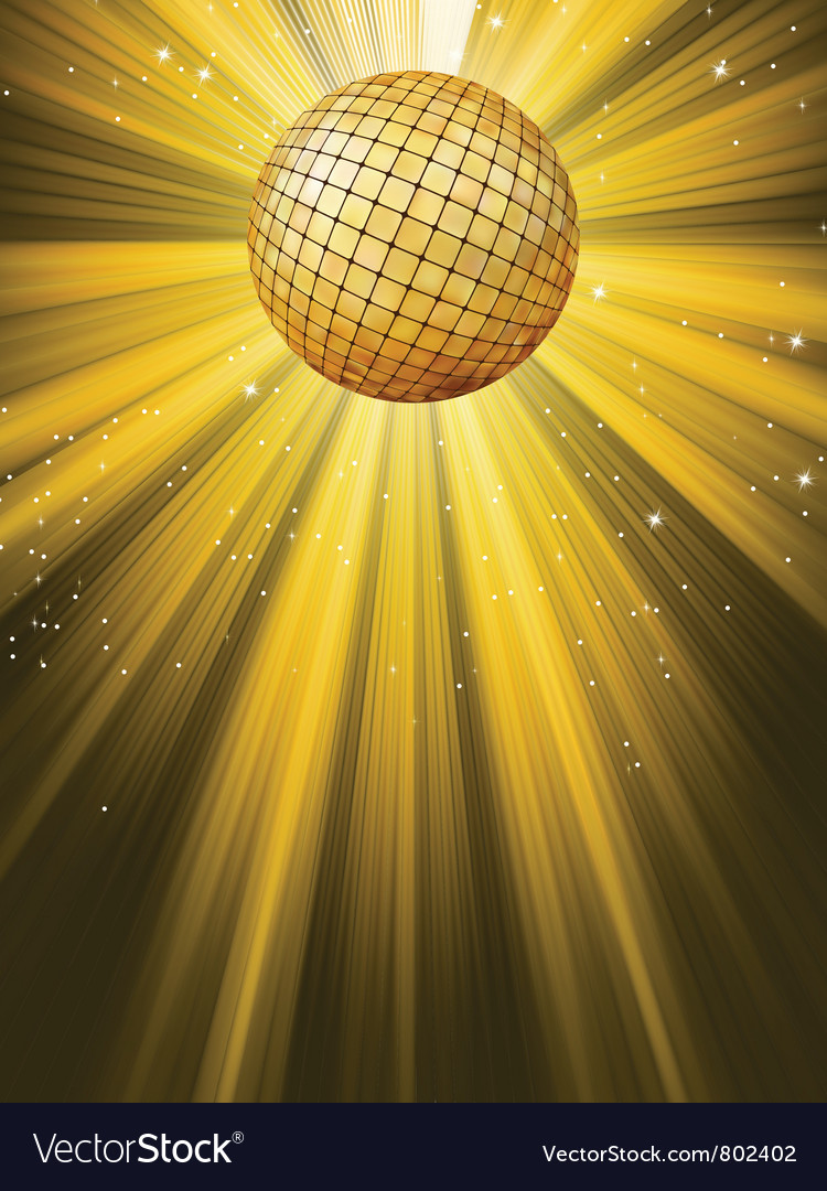 Party banner with disco ball vector | Price: 1 Credit (USD $1)