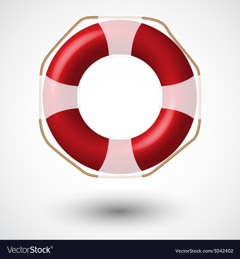 Red life buoy vector | Price: 1 Credit (USD $1)