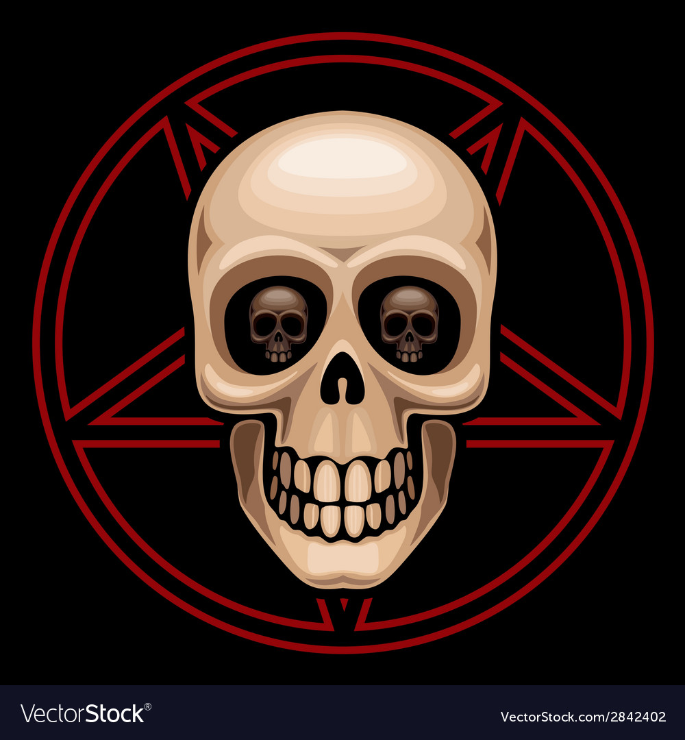 Skull and pentagram vector | Price: 1 Credit (USD $1)