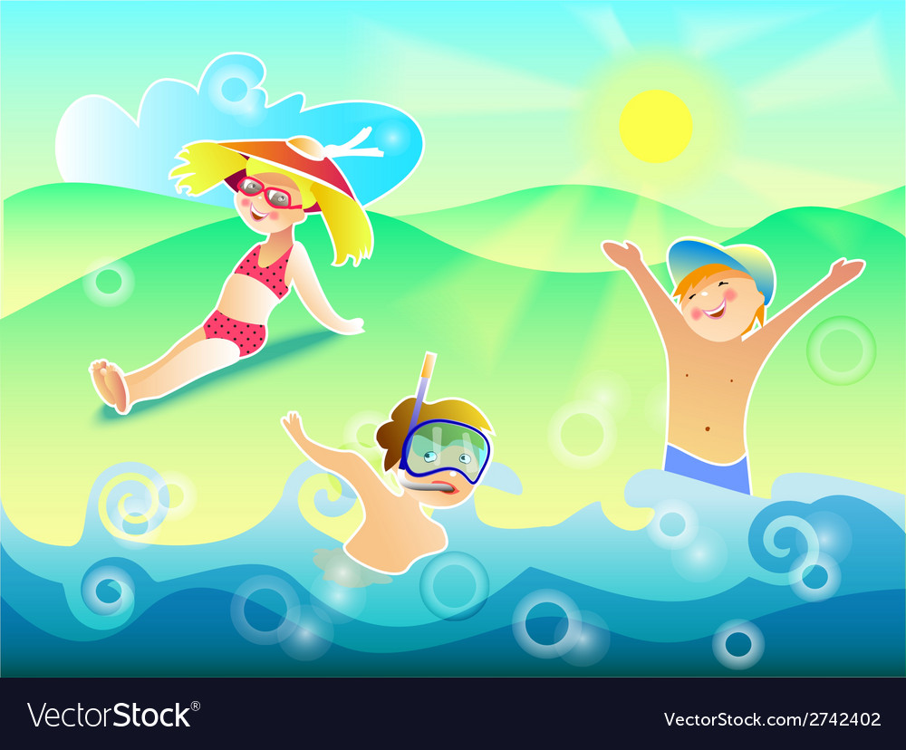 Sun air and water are our best friends vector | Price: 1 Credit (USD $1)