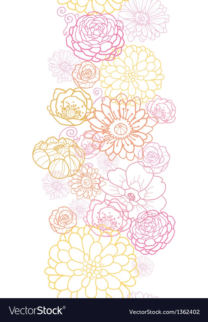 Wedding bouquet flowers vertical seamless pattern vector | Price: 1 Credit (USD $1)