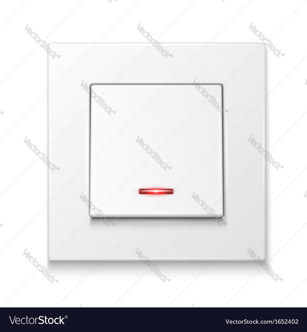 White wall switch with illumination vector | Price: 1 Credit (USD $1)