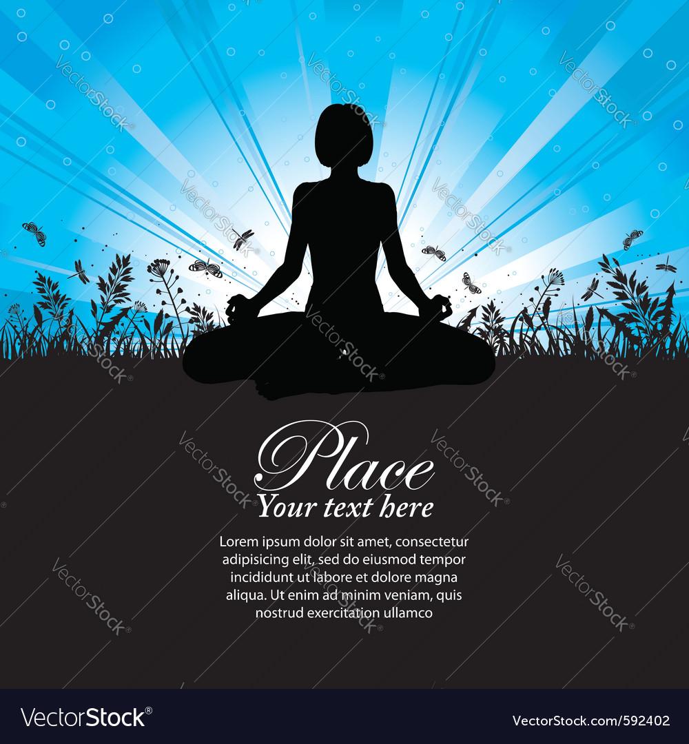 Yoga pose vector | Price: 1 Credit (USD $1)