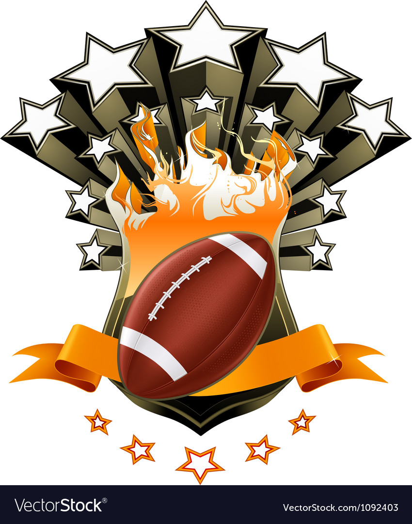 American football emblem vector | Price: 1 Credit (USD $1)