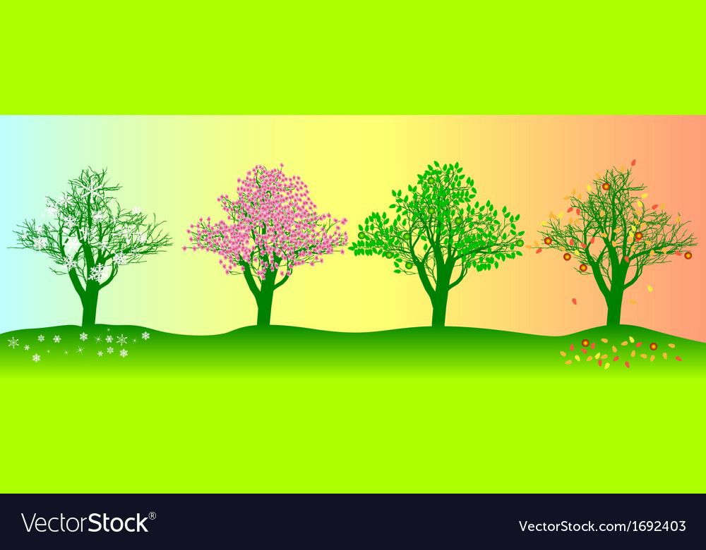 Annual seasons vector | Price: 1 Credit (USD $1)