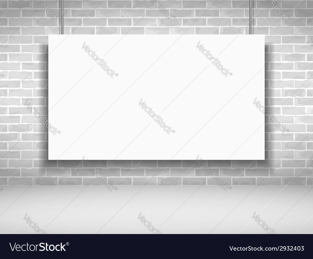 Banner on brick wall vector | Price: 1 Credit (USD $1)