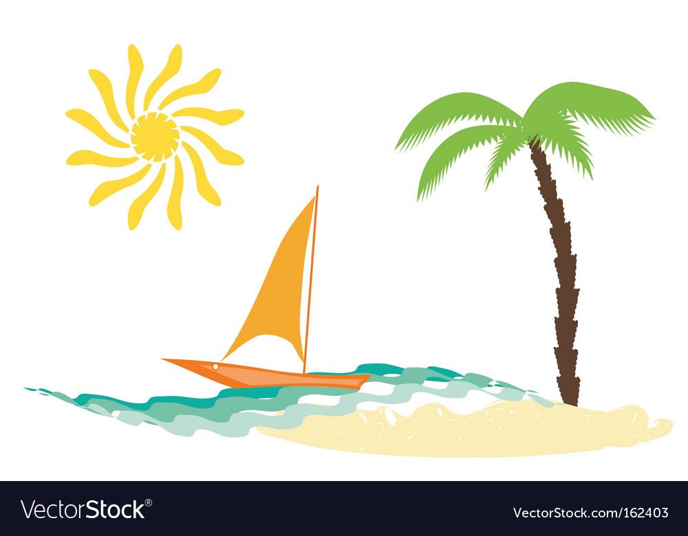 Beach elements vector | Price: 1 Credit (USD $1)
