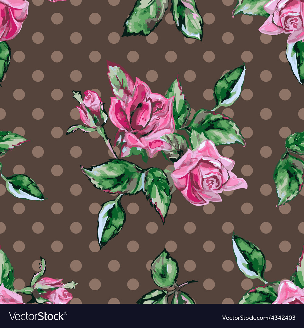 Classic wallpaper seamless vintage flower pattern vector | Price: 1 Credit (USD $1)
