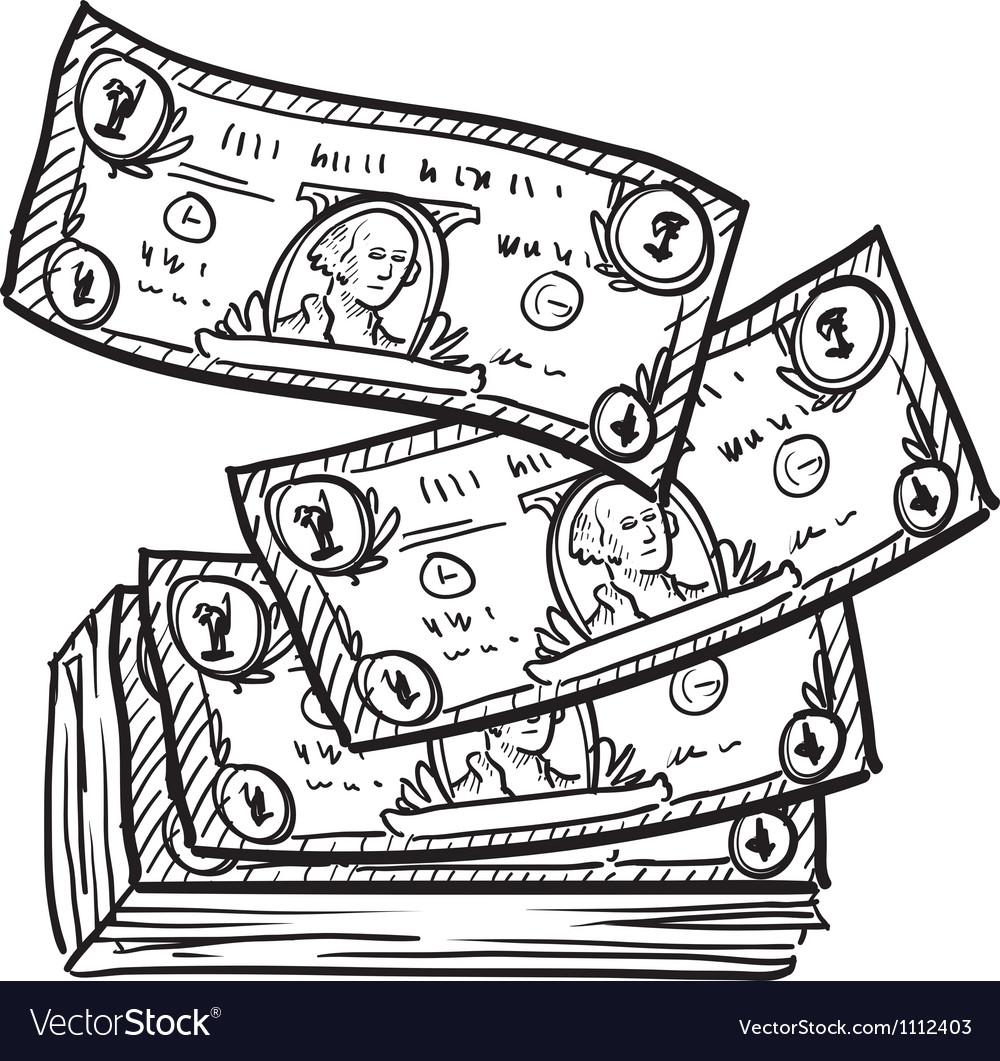 Doodle money stack vector | Price: 1 Credit (USD $1)