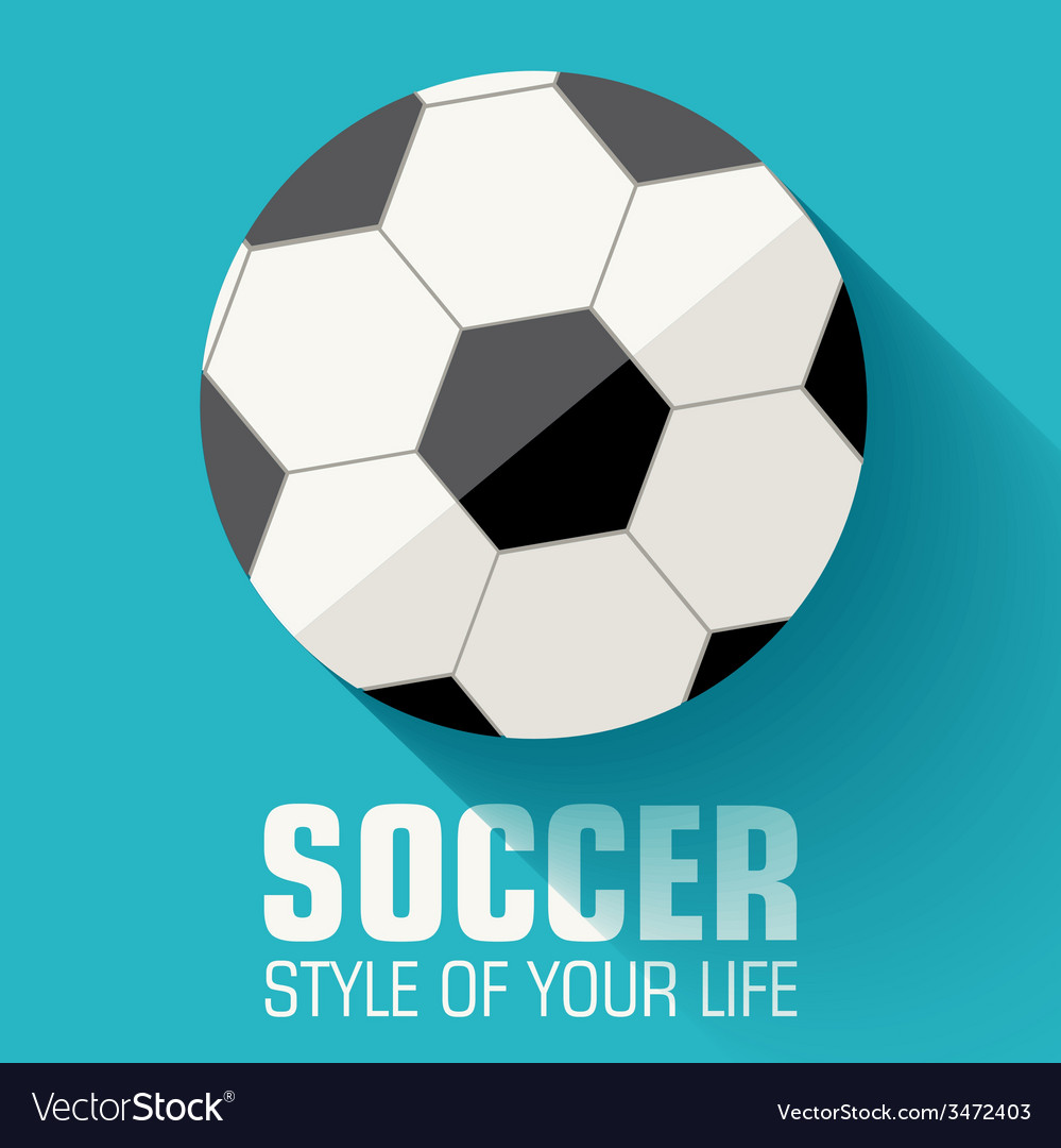 Flat sport soccer background concept design vector | Price: 1 Credit (USD $1)