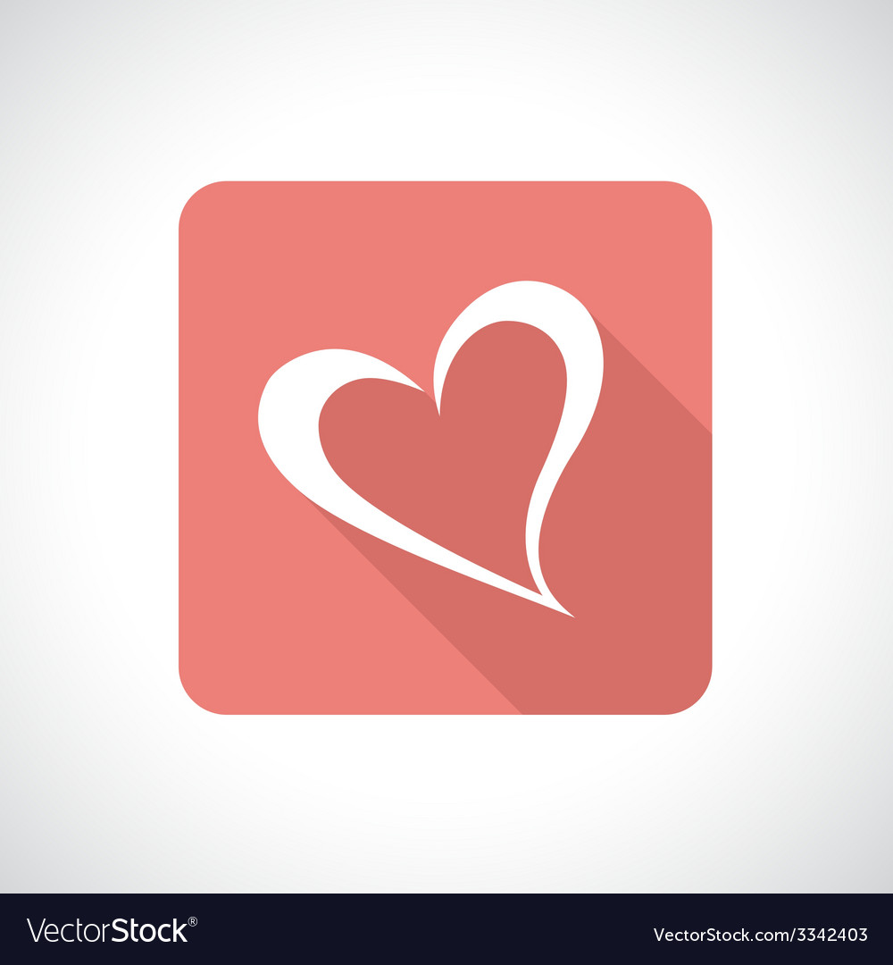 Heart icon with shadow vector | Price: 1 Credit (USD $1)