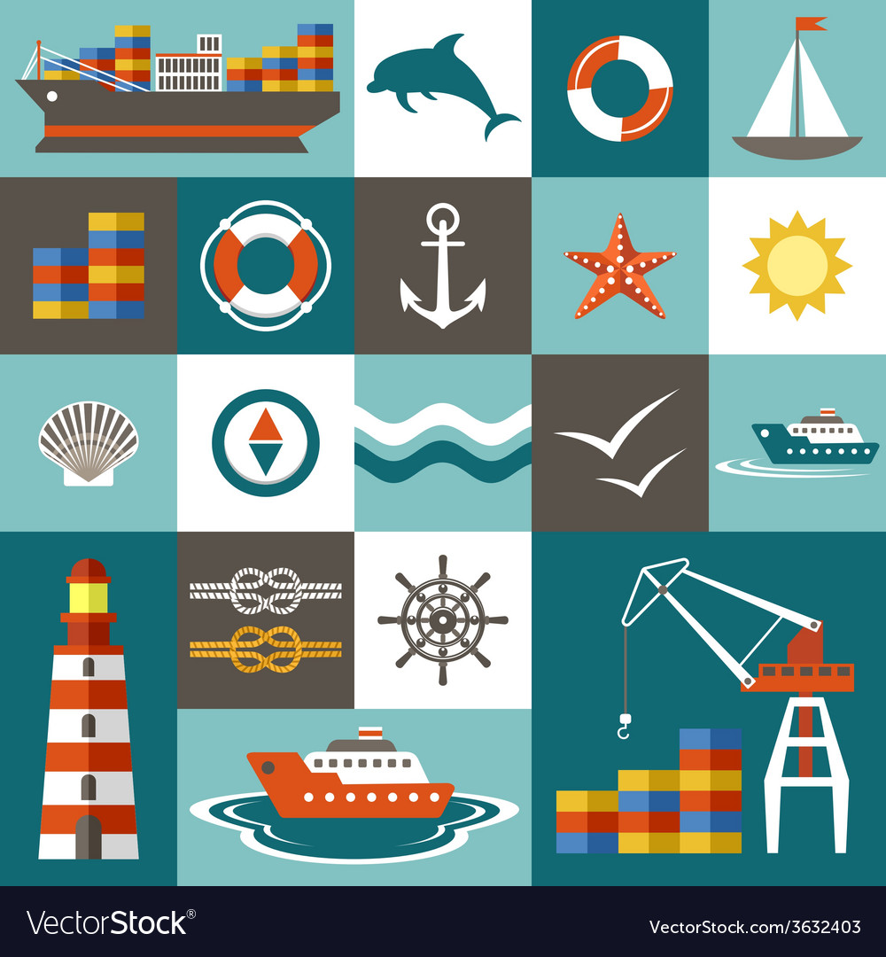 Port set vector | Price: 1 Credit (USD $1)