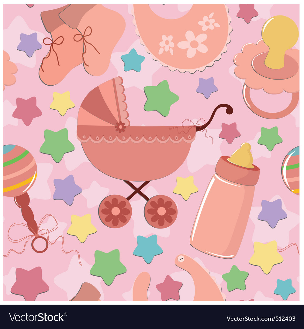 Seamless background for infant vector | Price: 1 Credit (USD $1)