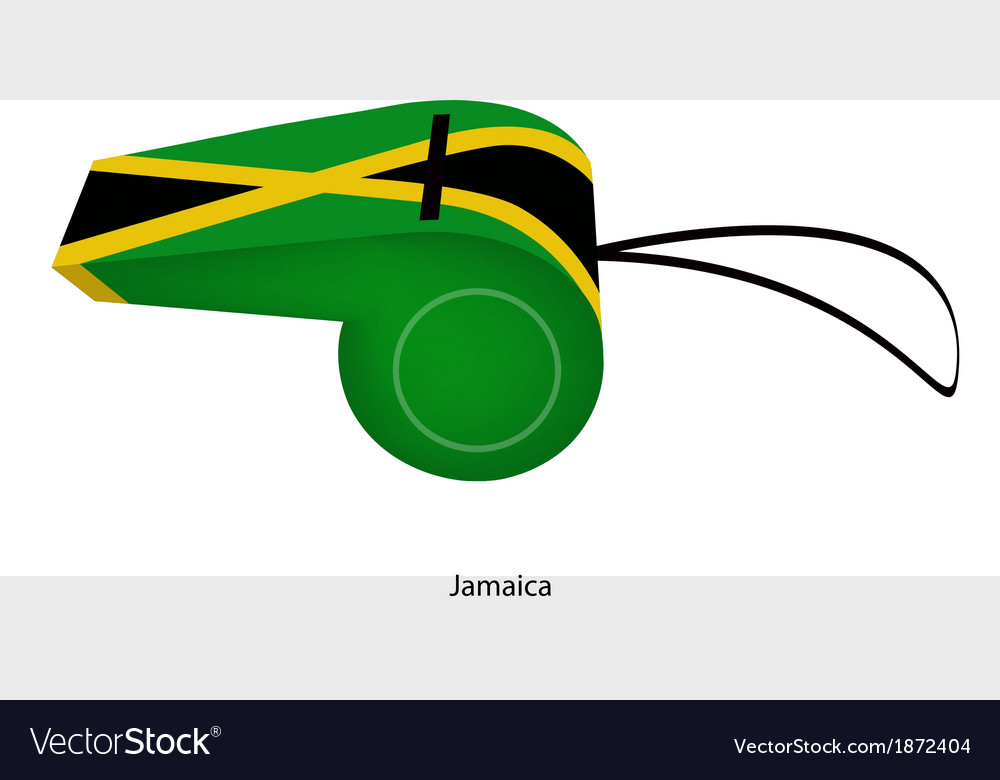A black yellow and green whistle of jamaica vector | Price: 1 Credit (USD $1)