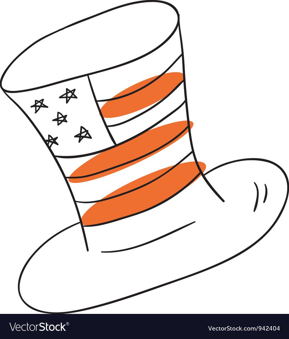 American hat vector   Price: 1 Credit (USD $1)