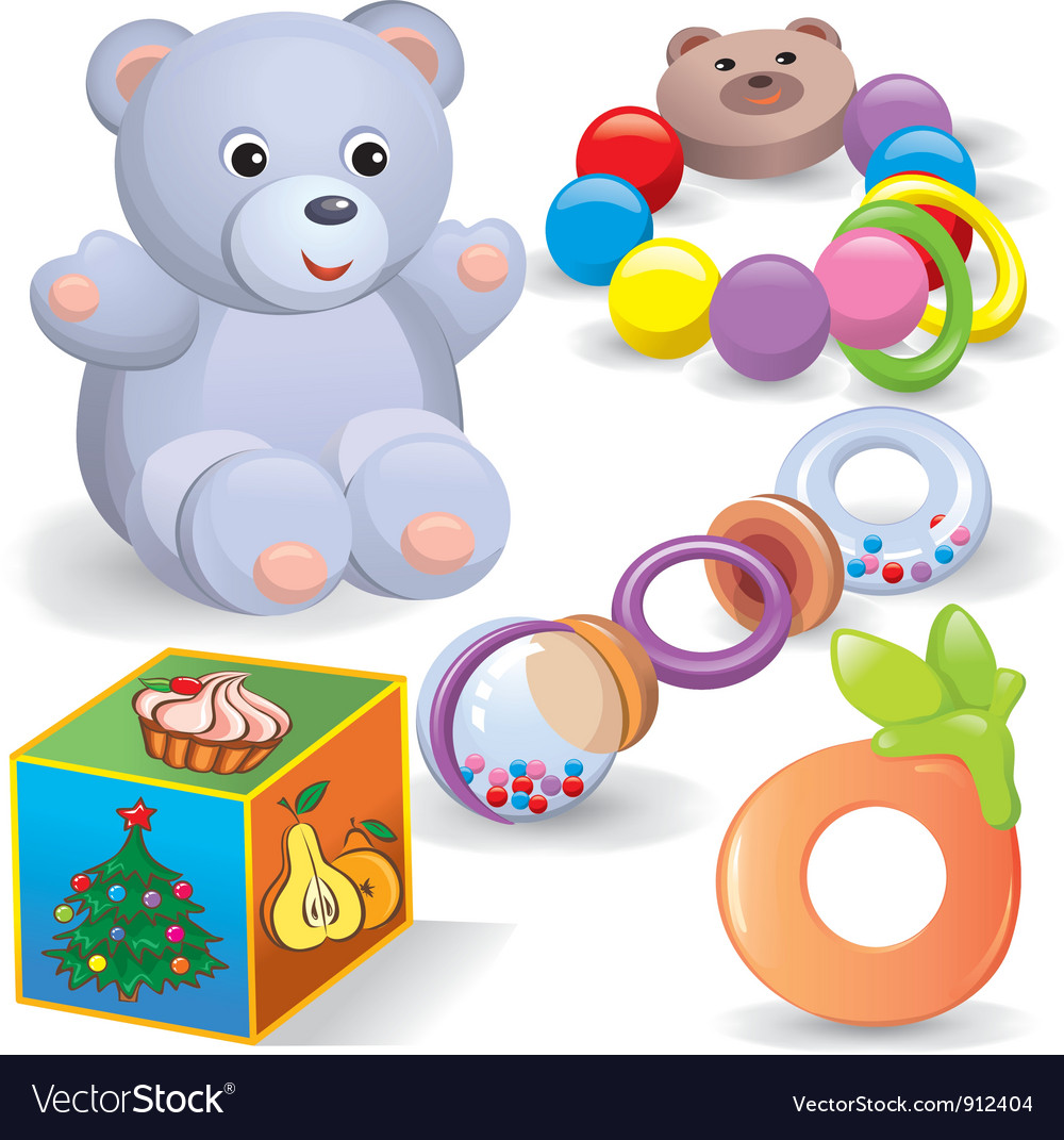 Baby toys set vector | Price: 5 Credit (USD $5)
