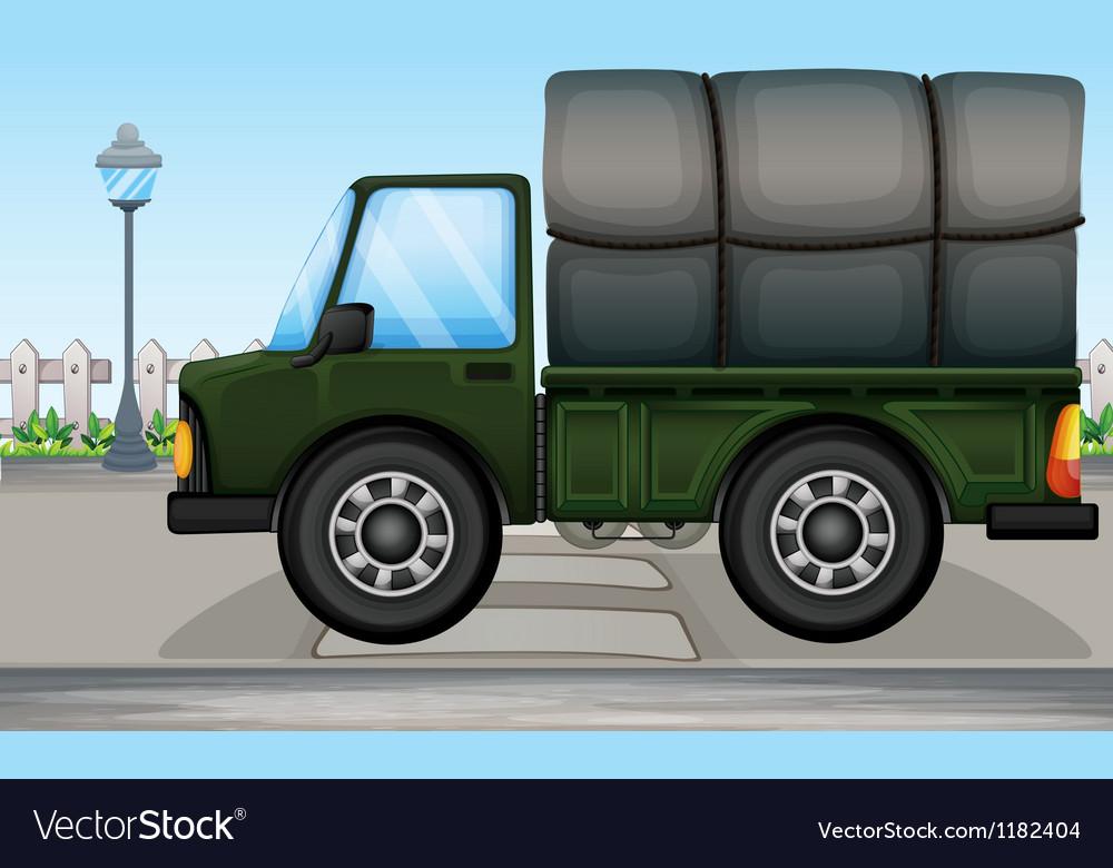 Cartoon big truck vector | Price: 1 Credit (USD $1)