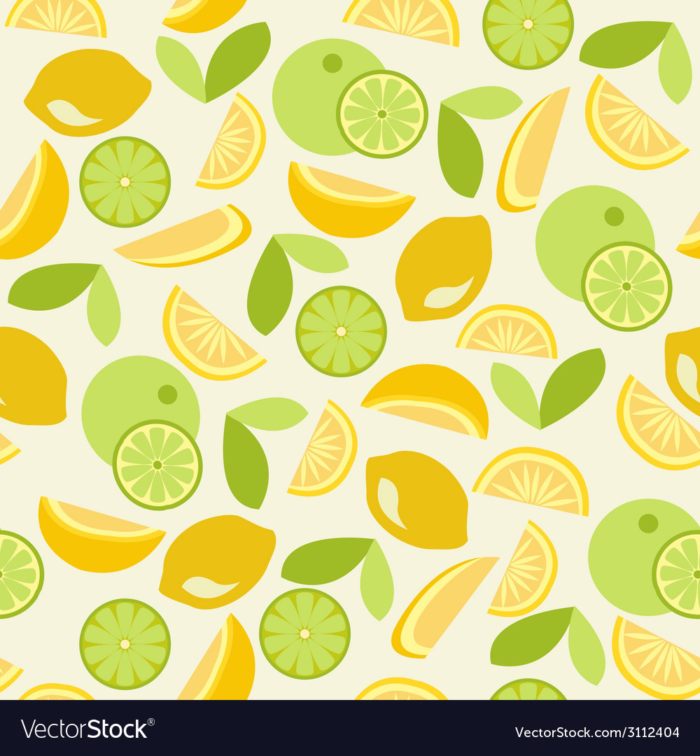Citrus pattern seamless - vector | Price: 1 Credit (USD $1)