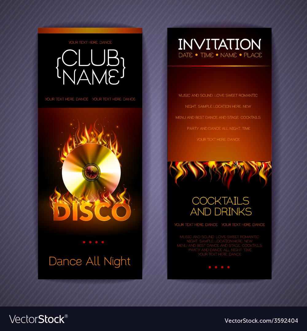 Disco corporate identity templates vector | Price: 1 Credit (USD $1)