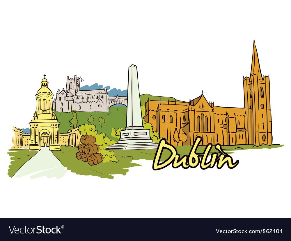 Dublin doodles vector   Price: 3 Credit (USD $3)