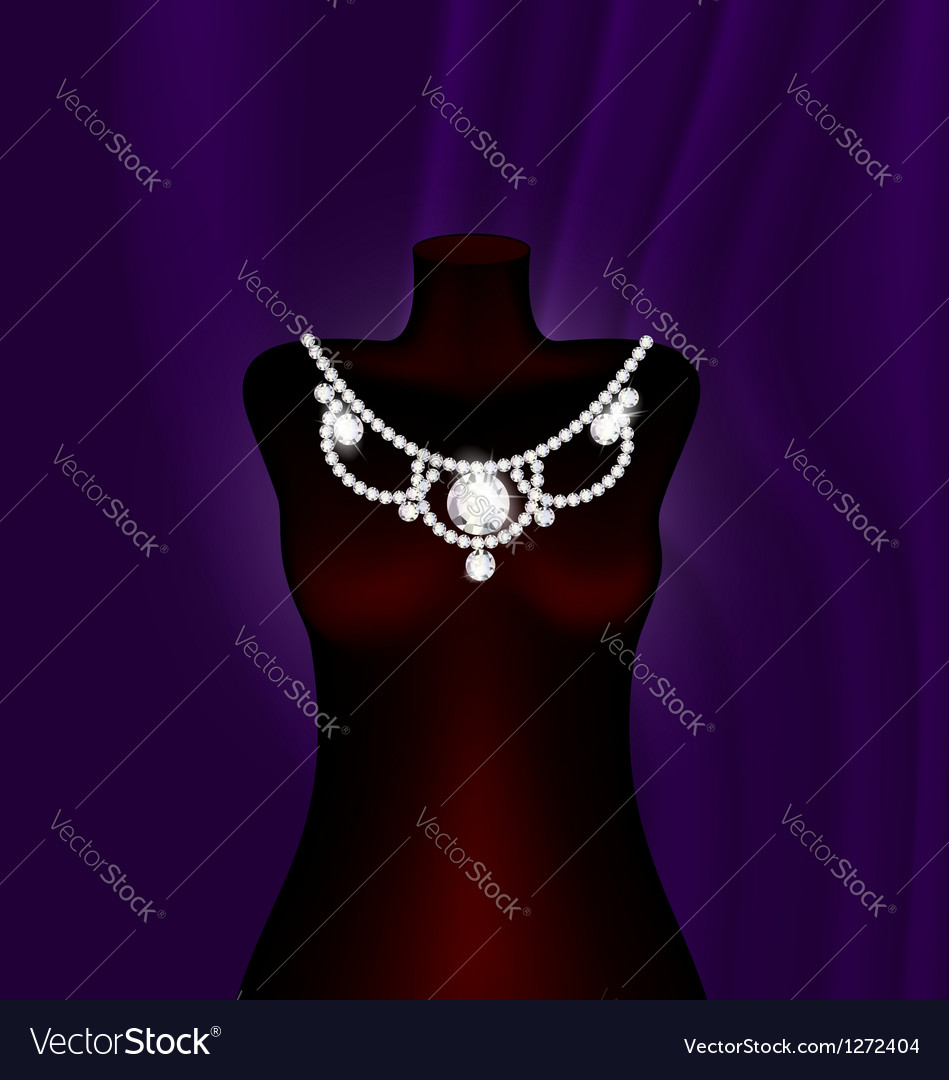 Dummy and necklace vector | Price: 1 Credit (USD $1)
