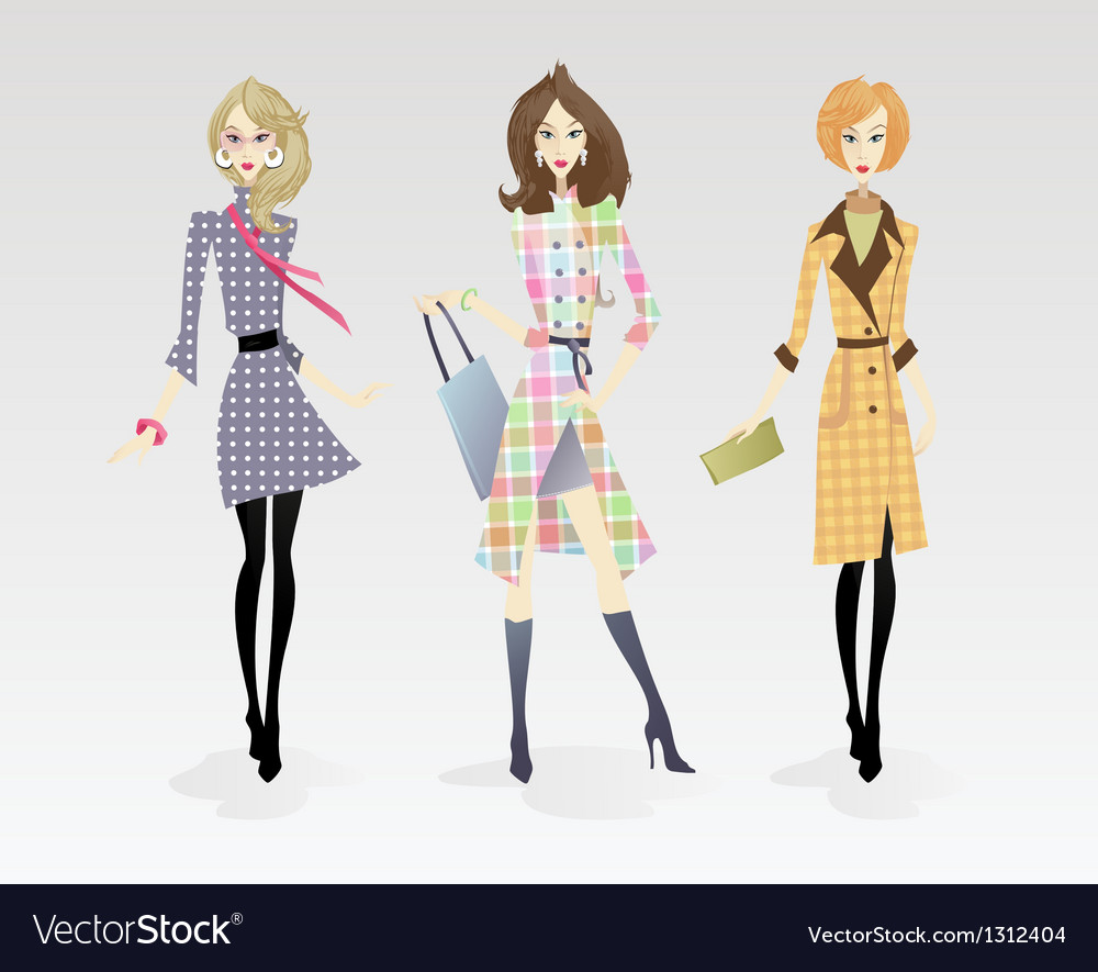 Fashion models vector | Price: 5 Credit (USD $5)