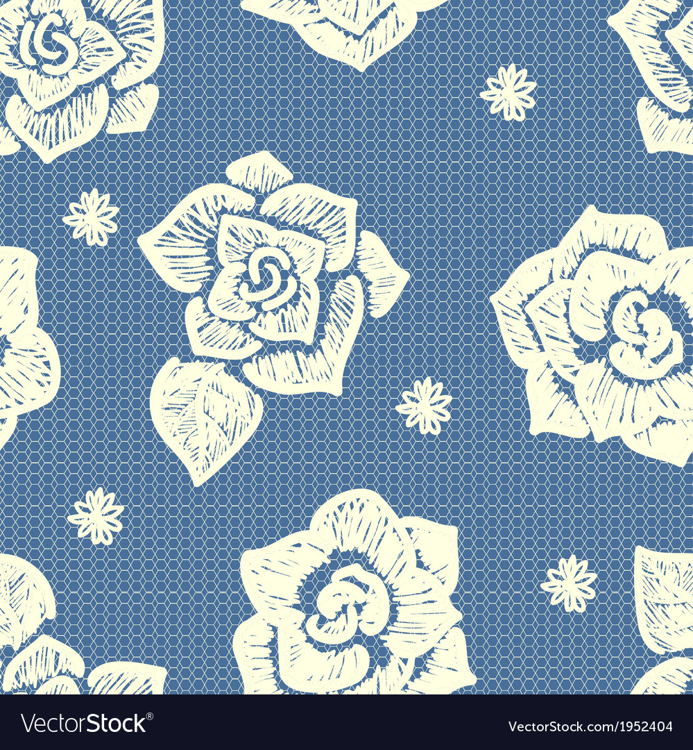 Floral lacy seamless pattern vector | Price: 1 Credit (USD $1)