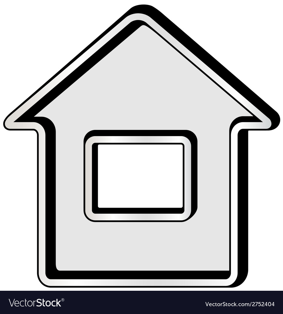 Gray isolated home icon vector | Price: 1 Credit (USD $1)