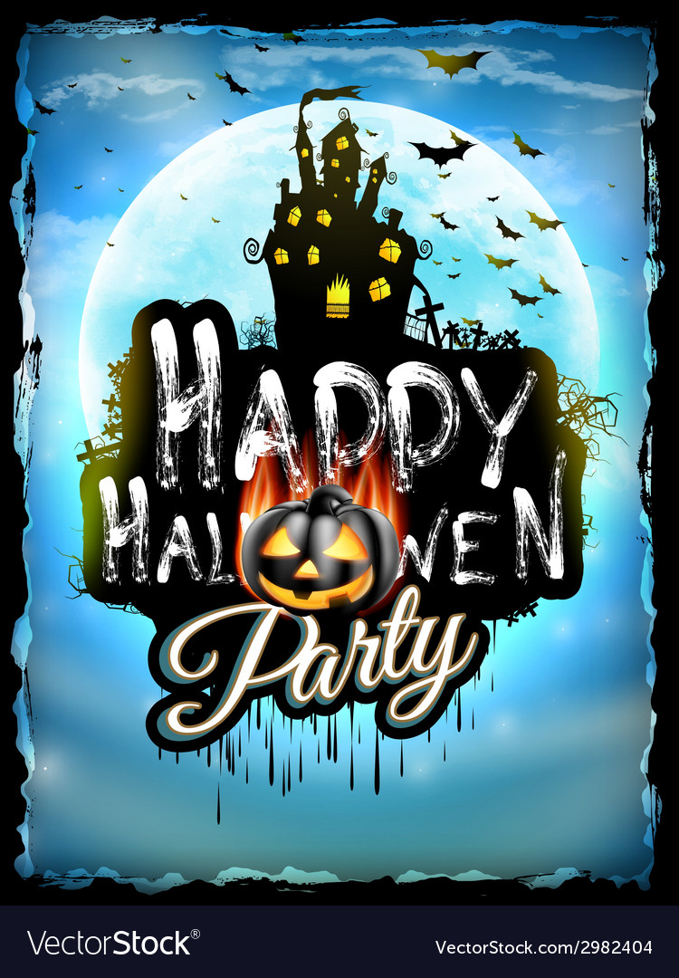 Halloween night background eps 10 vector | Price: 5 Credit (USD $5)
