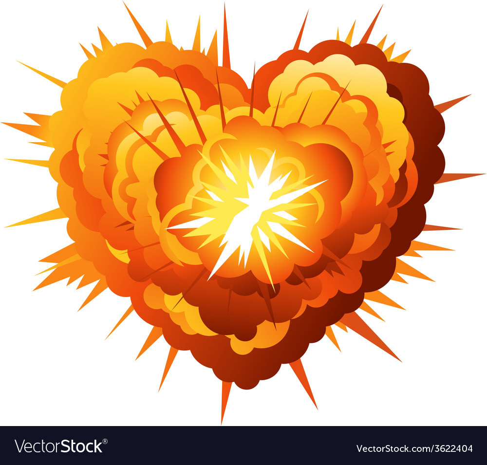 Heart explosion vector | Price: 1 Credit (USD $1)