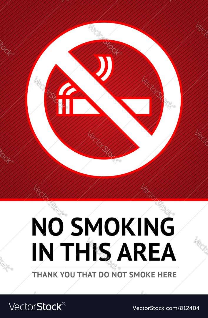 Label no smoking sticker vector | Price: 1 Credit (USD $1)