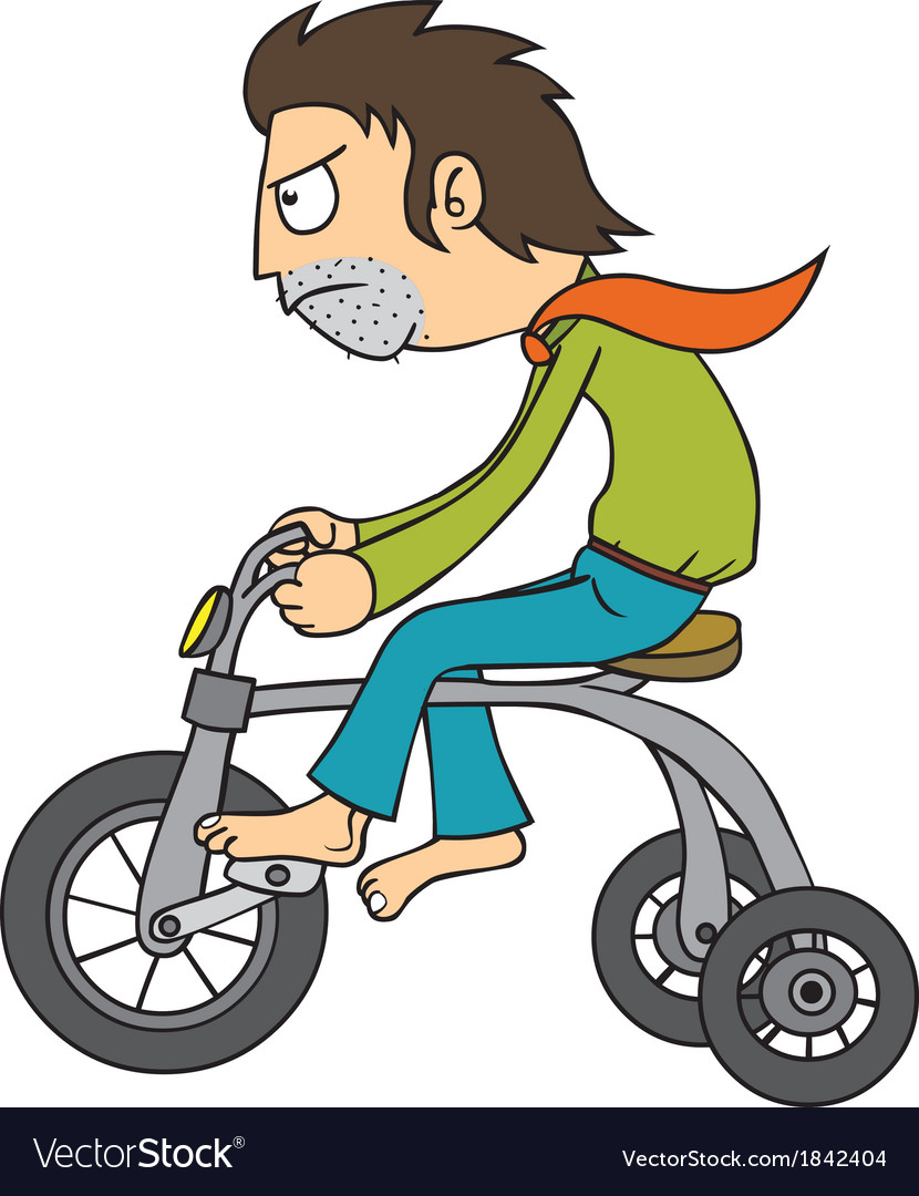Man riding bicycle vector | Price: 1 Credit (USD $1)