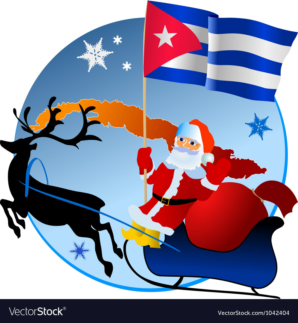 Merry christmas cuba vector | Price: 1 Credit (USD $1)