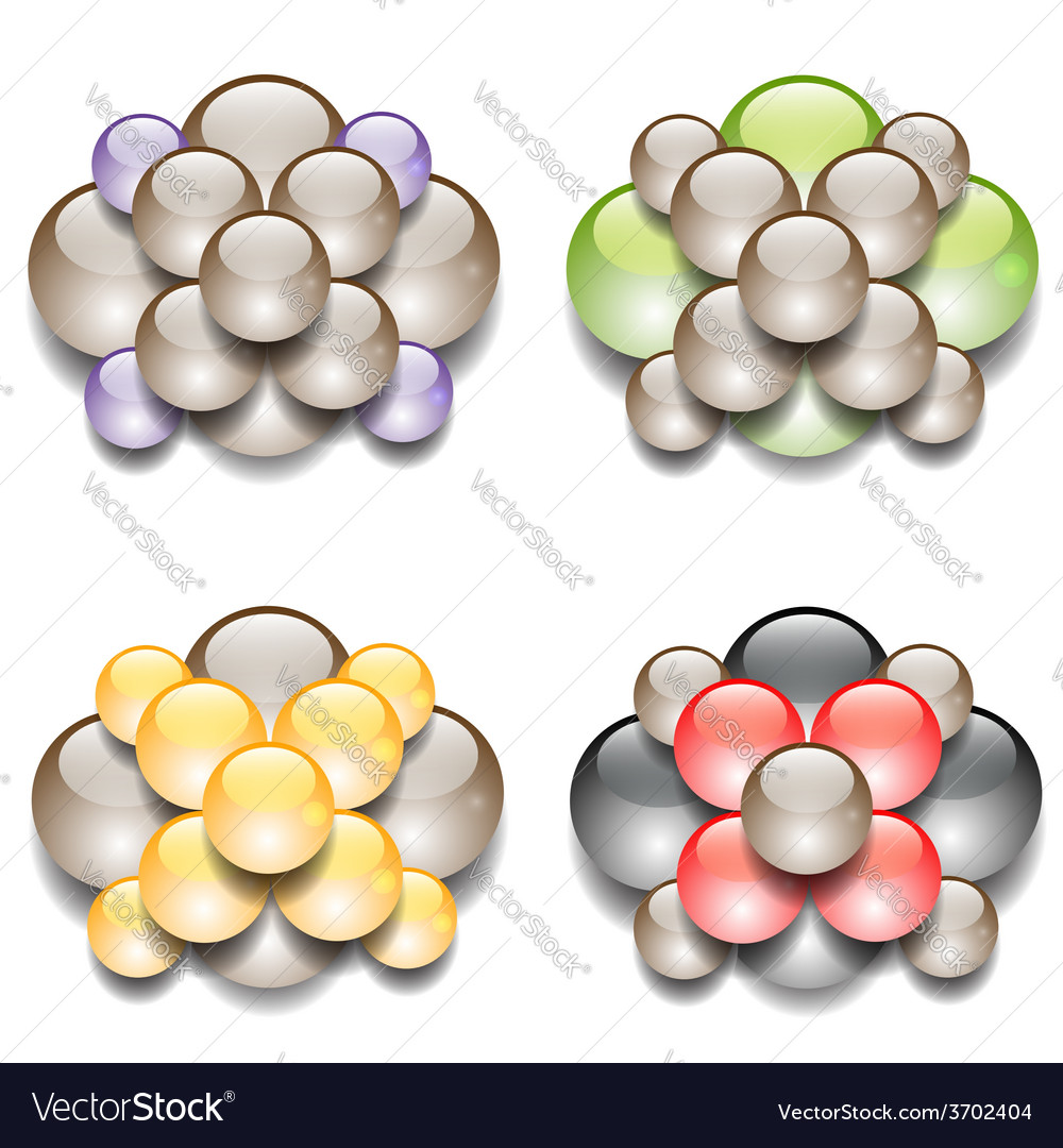 Molecules vector | Price: 1 Credit (USD $1)