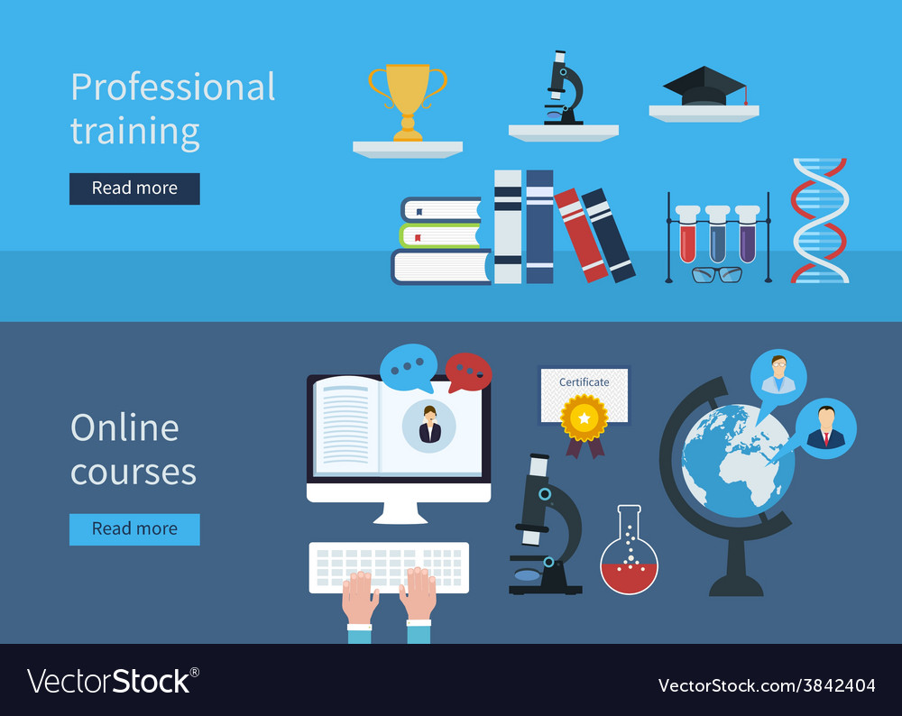 Professional training and online courses vector | Price: 1 Credit (USD $1)
