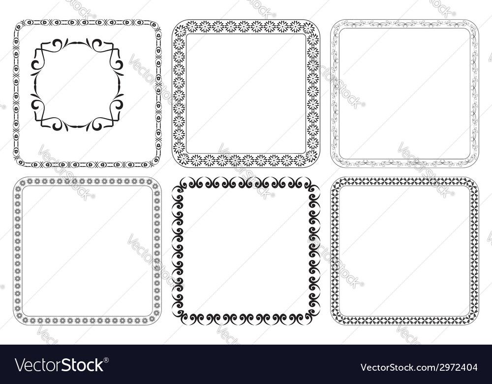Set - square decorative frames vector   Price: 1 Credit (USD $1)