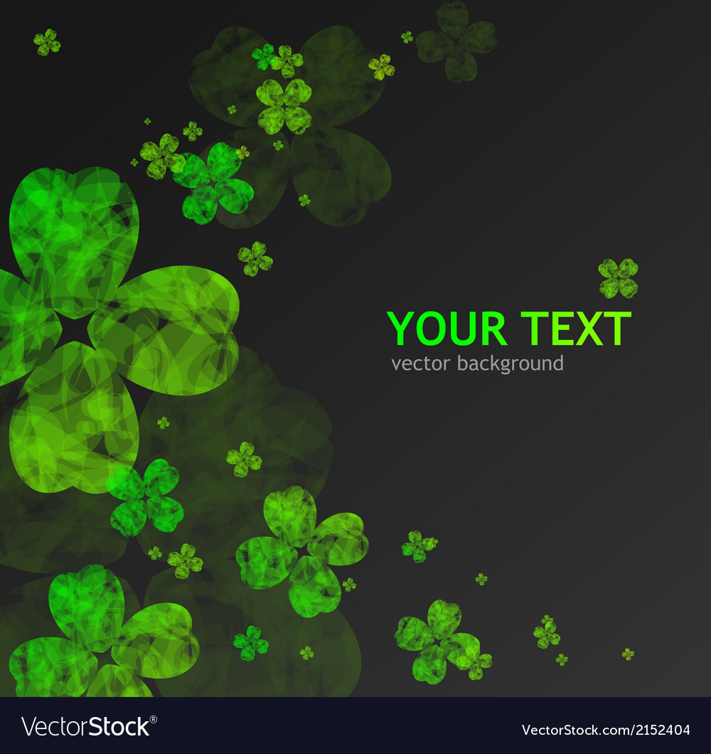 St patricks day abstract background vector | Price: 1 Credit (USD $1)