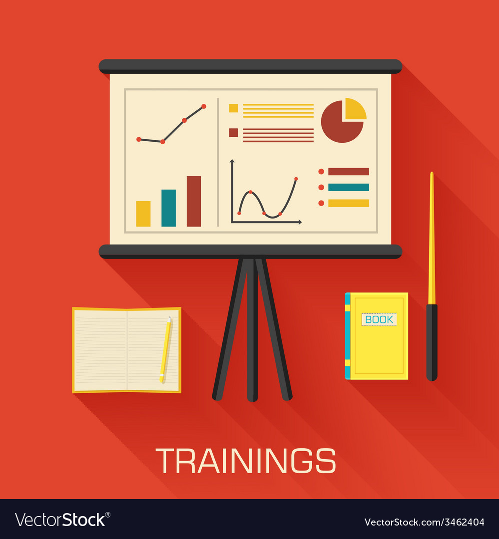 Training concept design analytics business desk vector | Price: 1 Credit (USD $1)