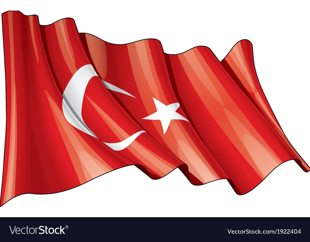Turkye flag grunge vector | Price: 1 Credit (USD $1)