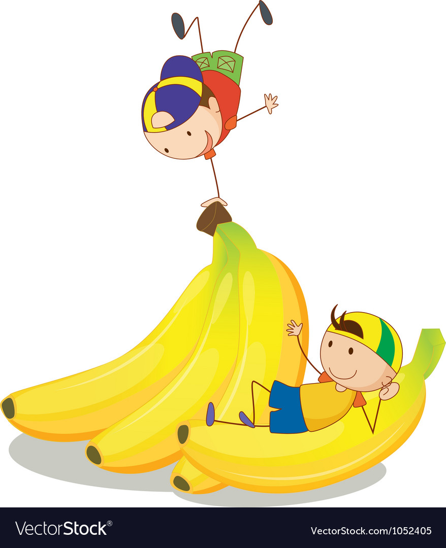 Banana kids vector | Price: 1 Credit (USD $1)