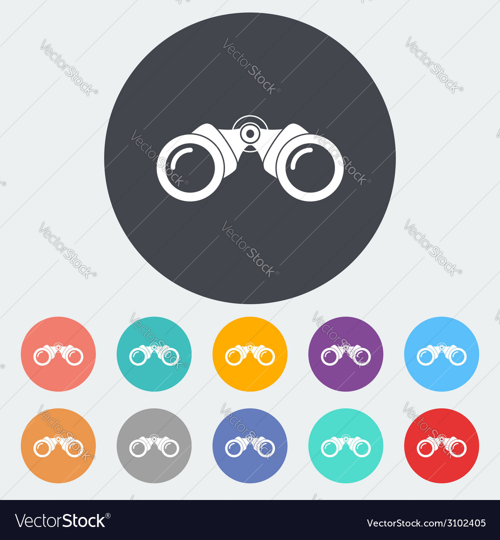 Binoculars flat icon vector | Price: 1 Credit (USD $1)