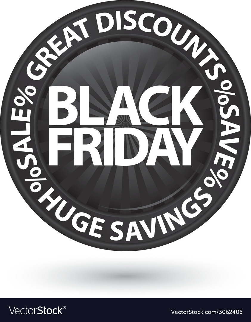 Black friday huge discounts icon vector | Price: 1 Credit (USD $1)