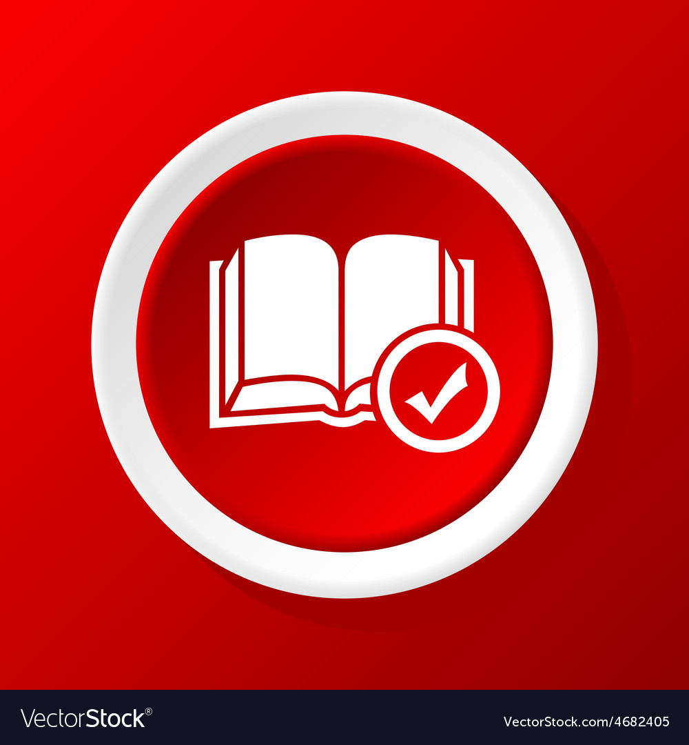 Book choice icon on red vector | Price: 1 Credit (USD $1)