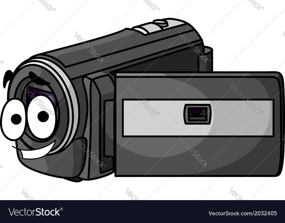 Happy cartoon video camera vector | Price: 1 Credit (USD $1)